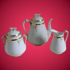Antique Haviland & Co., Limoges Tea Or Coffee Pot Creamer And Sugar Bowl