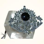 Vintage Italian Sterling Silver Brooch or Necklace with Marcasites