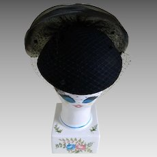 Michael Howard ~ Purple Wool   Feather Hat   Kitsch   Couture  459e3c373ef