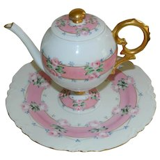 Haviland Limoges France Teapot with Plate