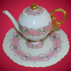 Haviland Limoges France Teapot with Plate