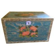 Antique Unique Tea Box with Tin Liner