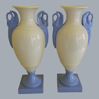1930's Pair of Lenox Vases with Swan Handles