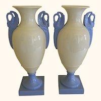 1930's Pair of Lenox Vases with Swan Handles