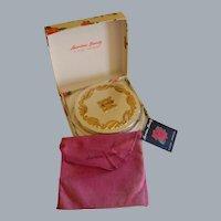 Vintage American Beauty Powder Compact by Elgin American in Original Presentation Box