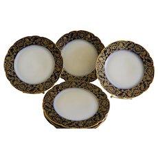 1882 CFH Charles Field Haviland--GDM Gerard Dufraisseix Morel Limoges Dessert Plates, Set of 6