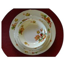 31 Piece Set, Japanese Meito Hand painted Autumn Leaves China