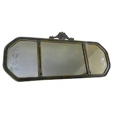 1920's Wood And Gesso Three Panel Etched Wall Mirror