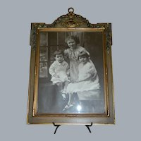 1920's Wood and Gesso Frame with Photo of Three Girls
