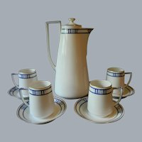 Art Deco Plankenhammer Bavaria Chocolate Pot Set