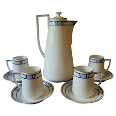 Art Deco Plankenhammer Bavaria Chocolate Pot Set