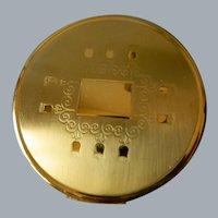 Richard Hudnut Gold Tone Powder Compact