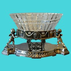Argentor Art Nouveau Silver Plate Table Centerpiece 1890 to 1919 Vienna