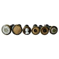 Victorian Wooden Holdbacks, Set of 6