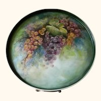 1902 Hand Painted Artist Signed Bavarian Porcelain Tray