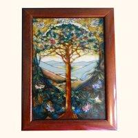 Tiffany Tree of Life Style Wooden Box