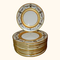 Gold Encrusted Black Knight Plates Set of 11