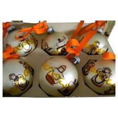 Lanissa Shiny Brite Christmas Ornaments, box of Six