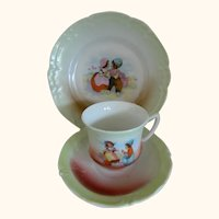 Child's Cup, Saucer, and Plate, Germany