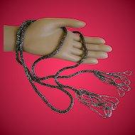 Vintage Micro Mini Glass Beaded Lariat Necklace