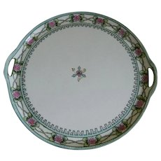 Beautiful Hand Painted Morimura Nippon Cake Plate/Tray 1911-1921