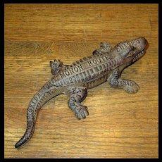 Cast Iron Monon Railroad Alligator Match Holder