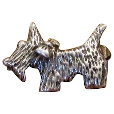 Mexican Sterling Silver Scotty Dog Pin