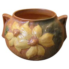 Roseville Art Pottery Clematis Bowl