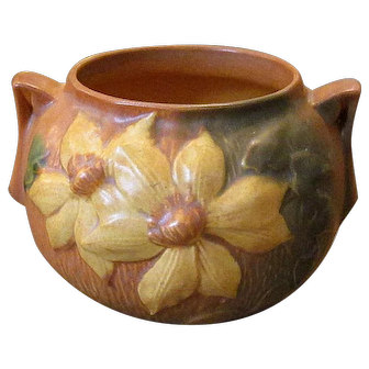 Roseville Art Pottery Clematis Bowl
