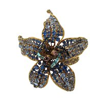 Iradj Moini for Oscar de la Renta Orchid Cuff  Multi-color Stones Adjustable