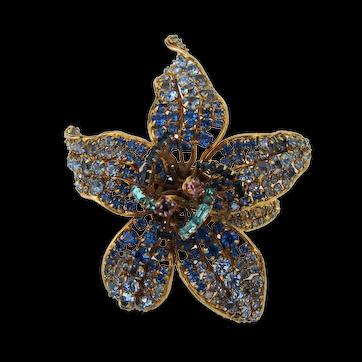Iradj Moini for Oscar de la Renta Orchid Cuff  Multi-color Stones Adjustable