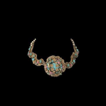 Vintage Miriam Haskell Necklace Multi-Stone & Color