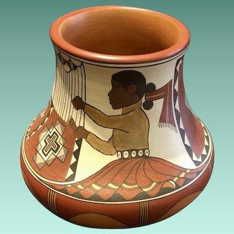Santa Clara Polychrome Pot by Lois Gutierrez