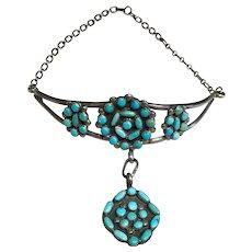 Zuni Style Turquoise Choker Necklace