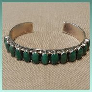 Don Lucas Malachite and Sterling Silver Bracelet