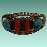 Small Size Turquoise and Coral Bracelet
