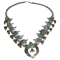 Singer Style Peyote Bird Necklace