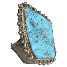 Huge Stone Mountain Turquoise Stone in Bracelet