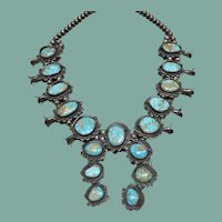 Royston Turquoise Squash Blossom Necklace