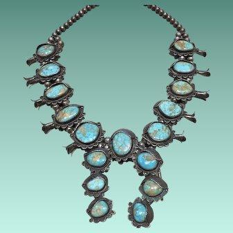 Royston Turquoise Squash Blossom Necklace