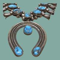 Gem Turquoise Squash Blossom Necklace