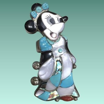 Zuni Style Minnie Mouse Ring