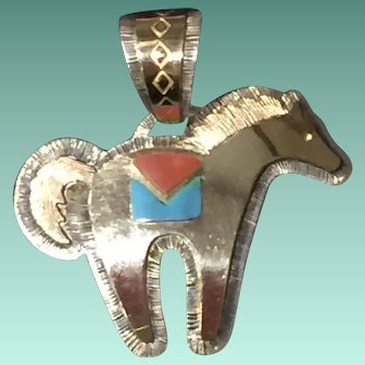 Horse Pendant by Dina Huntinghorse