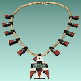 1930's Santo Domingo Style Thunderbird Necklace