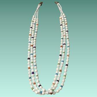 Santo Domingo Style Necklace of White Coral