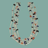 Six Strand Necklace by Virginia Aguilar