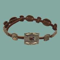 Navajo Style Silver Concho Belt