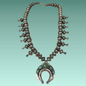 Dime Squash Blossom Necklace