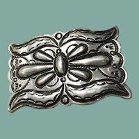 Silver Belt Buckle by Jack Adacai