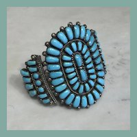 Turquoise Cluster Bracelet by E.Wyaco